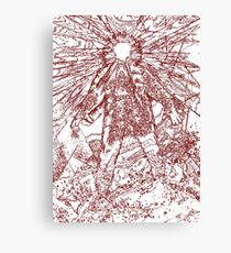 The Thing - Lines & Layers Blood Red Canvas Print