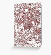 The Thing - Lines & Layers Blood Red Greeting Card