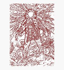 The Thing - Lines & Layers Blood Red Photographic Print