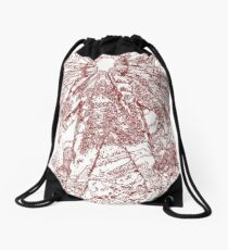 The Thing - Lines & Layers Blood Red Drawstring Bag