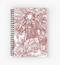 The Thing - Lines & Layers Blood Red Spiral Notebook