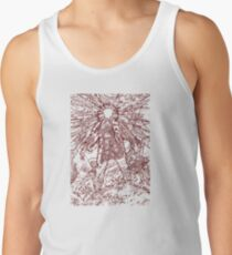 The Thing - Lines & Layers Deep Red Tank Top