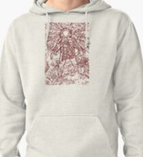 The Thing - Lines & Layers Deep Red Pullover Hoodie