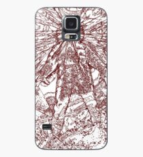 The Thing - Lines & Layers Deep Red Case/Skin for Samsung Galaxy
