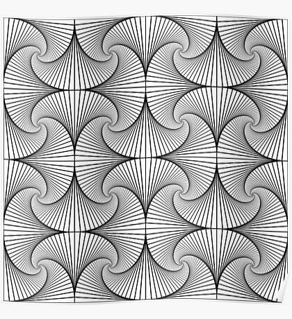 Monochrome Pattern  Poster