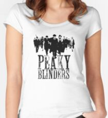 Peaky Blinders Lineup (Black&White) Women's Fitted Scoop T-Shirt