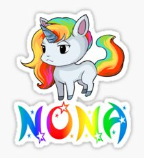 Nona Unicorn Sticker