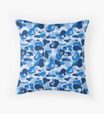 bape camouflage Throw Pillow