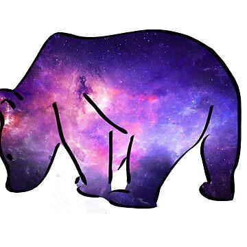 Galaxy Polar Bear by jnrjoelle