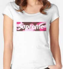 Supreme - Elite Pink Camo Women's Fitted Scoop T-Shirt