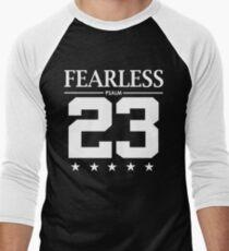 Fearless Psalm 23 - Christian Bible Scripture Verse  Men's Baseball ¾ T-Shirt