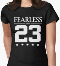 Camiseta entallada para mujer Fearless Psalm 23 - Versículo bíblico de la Biblia cristiana