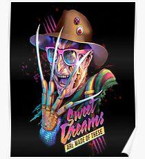 Freddy Krueger Sweet Dreams Poster