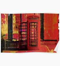 UK Red Phone Box - London England Poster
