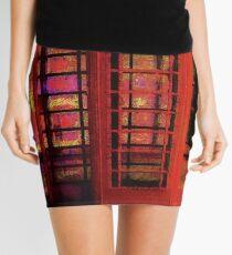 UK Red Phone Box - London England Mini Skirt