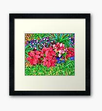 Bright Xmas Like Flowers Duvet Framed Print