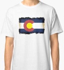Colorado flag in Grunge Classic T-Shirt