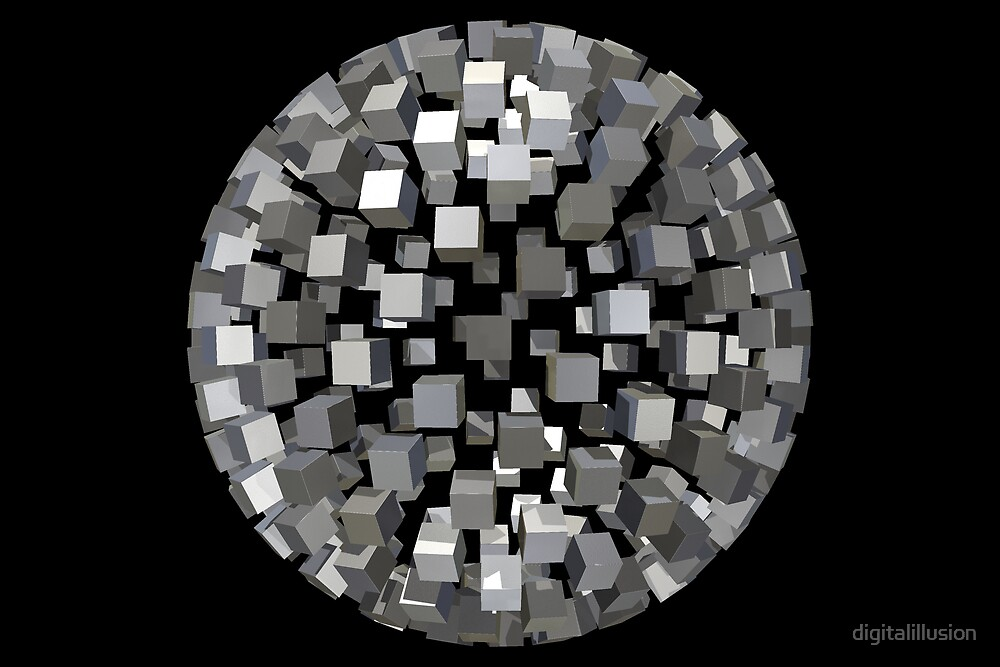 Sphere of cubes by digitalillusion