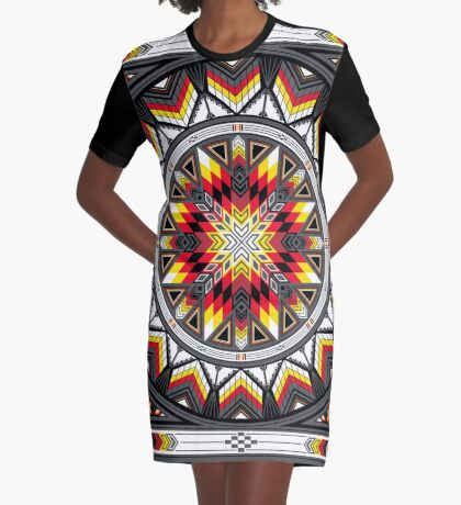 Sacred Places Red Graphic T-Shirt Dress