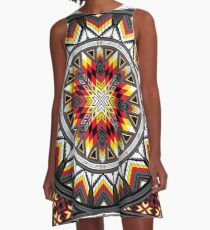 Sacred Places Red A-Line Dress