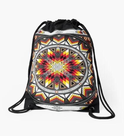 Sacred Places Red Drawstring Bag