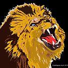 Roaring Lion by EyeMagined