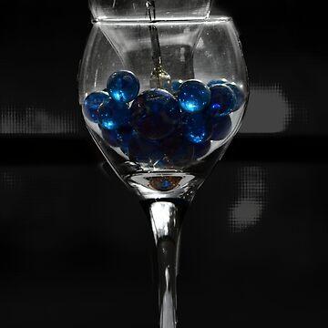 Abstract Wine Glass by PatSeg
