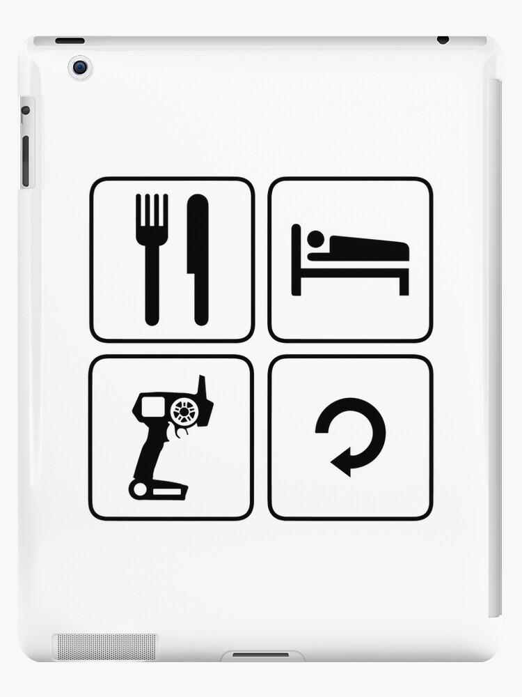 'eat sleep drive repeat rc spektrum' iPad Case/Skin by wi-se-man