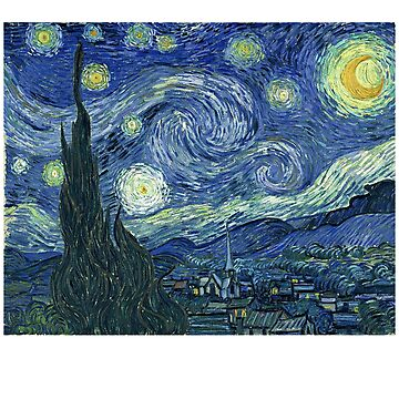 The Starry Night Painting by Vincent van Gogh by teachertees