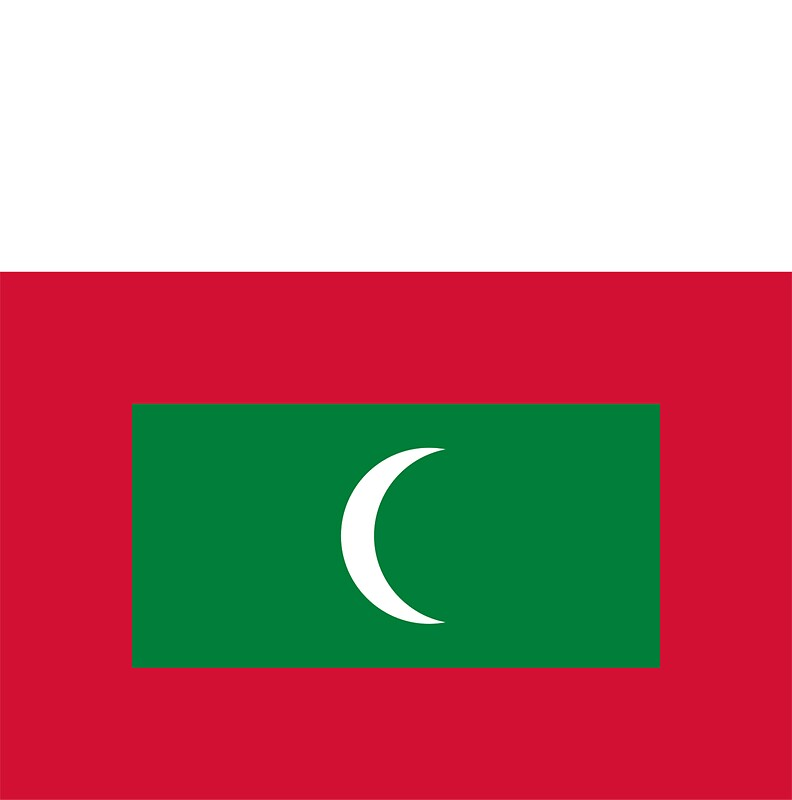 Maldives flag by davdmark