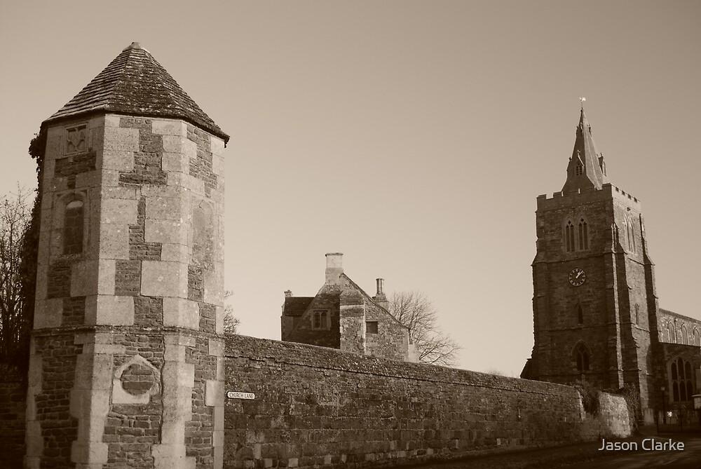 The church and Bede House, Lyddington, Rutland by Jason Clarke