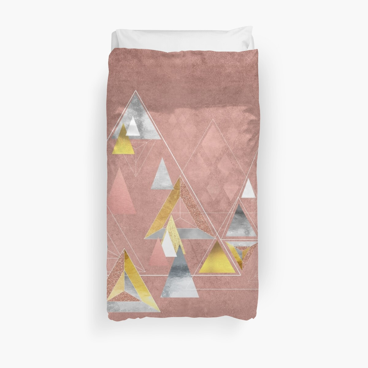 Quot Abstract Geometric Triangles Gold Silver Rose Gold