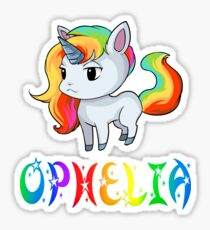 Ophelia Unicorn Sticker