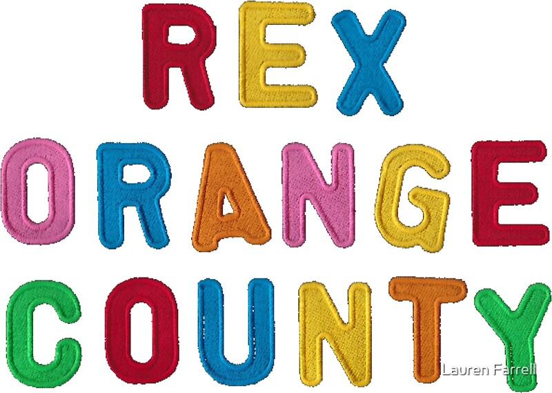 """""""Rex Orange County Logo"""" Stickers by Lauren Farrell"""