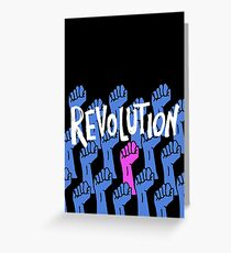 Feminist Revolution - Pink and Blue Greeting Card
