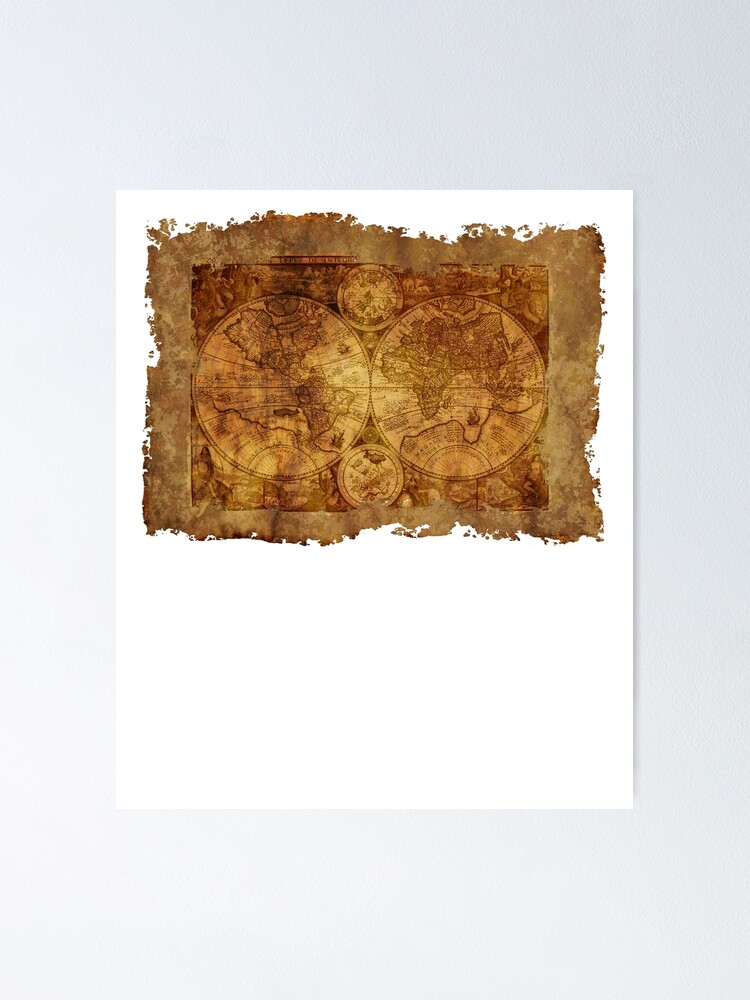 Beautiful Antique World Map | Poster