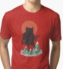 Fin The Giant  Tri-blend T-Shirt