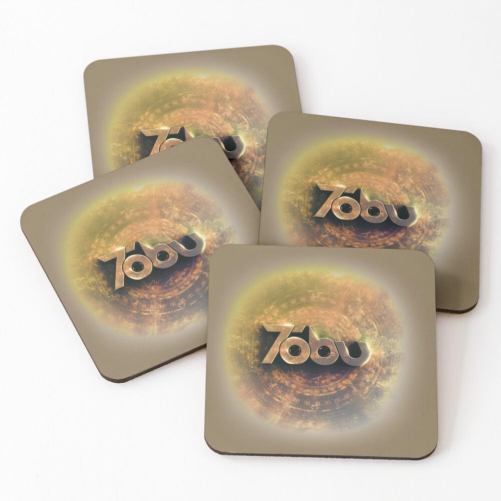 Golden Tobu Coasters (Set of 4)