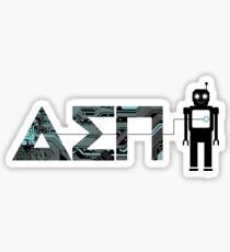 Delta Sigma Pi Robot Sticker