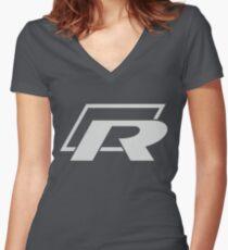 Camiseta entallada de cuello en V Logotipo de Golf R