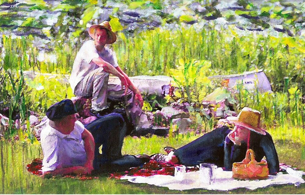 Picnic on the Lake by Randy Sprout