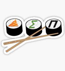Delta Sigma Pi Sushi Sticker