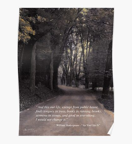 Shakespeare Quote Poster  Poster