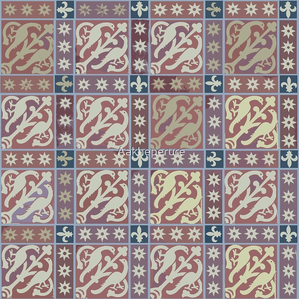 Medieval Peacock tiles by Aakheperure