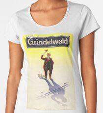 Grindelwald, Switzerland, Ski Poster Women's Premium T-Shirt