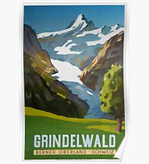 Grindelwald, Schweiz, Ski Poster Poster