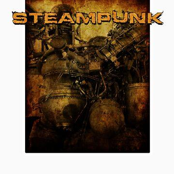 Steampunk Engine Pod by inception8