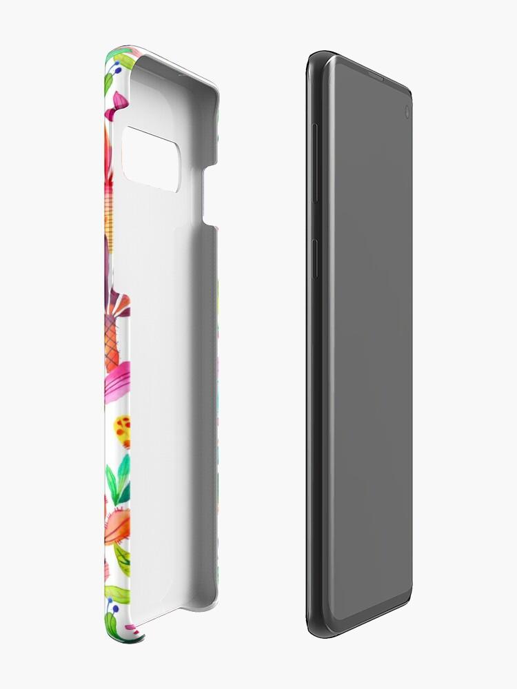 Alternate view of Jungle tropical garden - Fun palms pattern Case & Skin for Samsung Galaxy