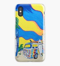 Tie-dye VW Bus and Surf Shack iPhone Case/Skin