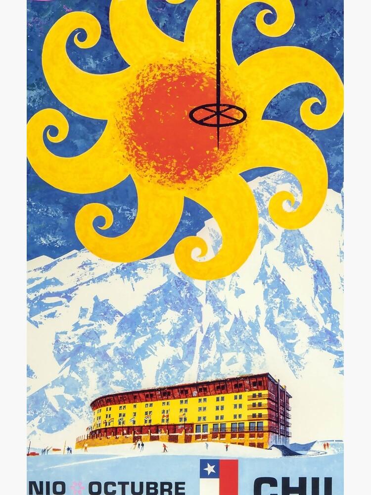 Portillo, Chile, Ski Poster von BokeeLee